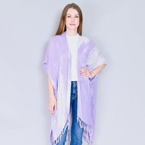 FREE PEOPLE Lilac Delfina Tie Dye Kimono